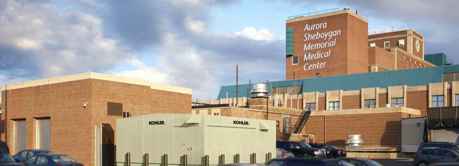 KOHLER® Industrial Generator outside medical center