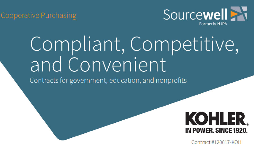 Did you know Kohler Power is Sourcewell Approved?
