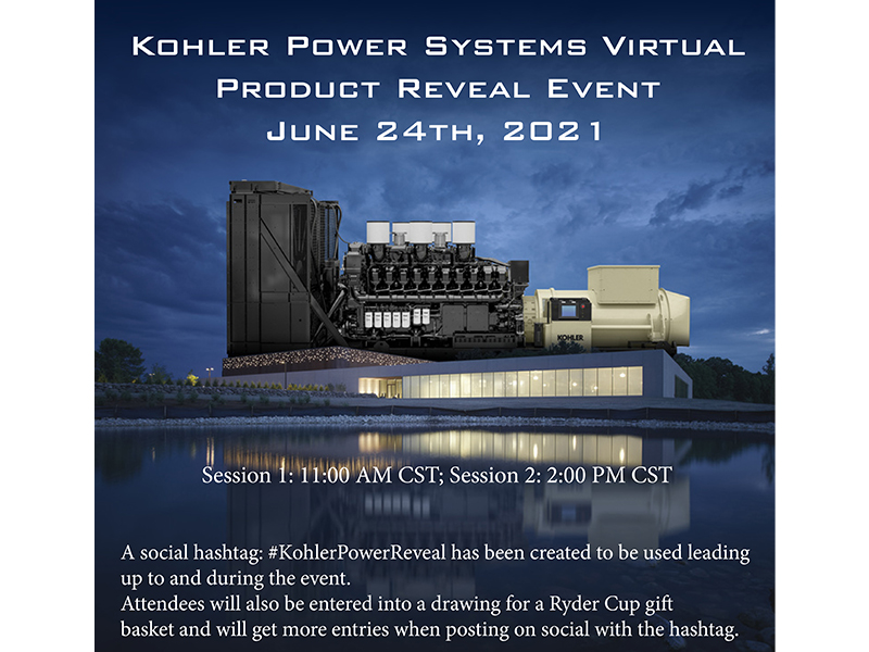 Kohler Power Systems Virtual Product Reveal Event
